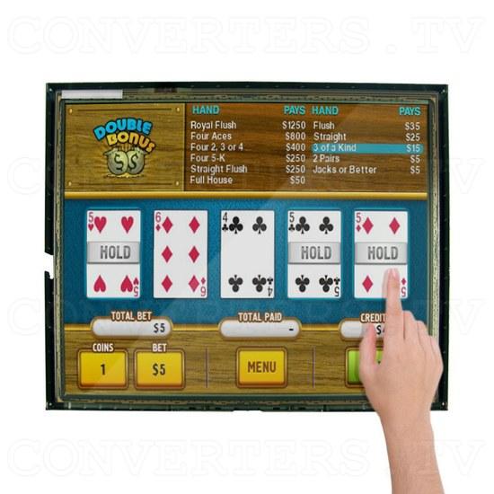 17 Inch LCD Touchscreen CGA EGA VGA Monitor - Application: Poker Machine