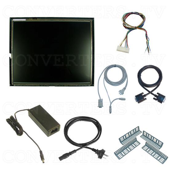 17 Inch LCD Touchscreen CGA EGA VGA Monitor - Full Kit