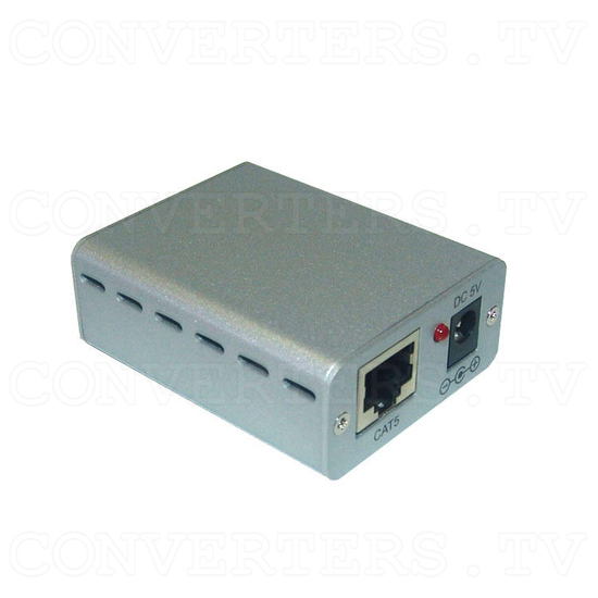 RS-232 Over CAT5 Cable Transmitter and Receiver Extender - Receiver - Full View
