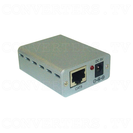 RS-232 Over CAT5 Cable Transmitter and Receiver Extender - Transmitter - Full View