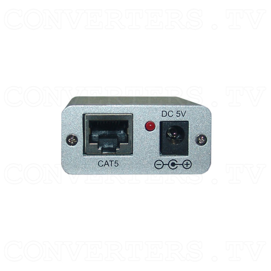 RS-232 Over CAT5 Cable Transmitter and Receiver Extender - Receiver - Front View