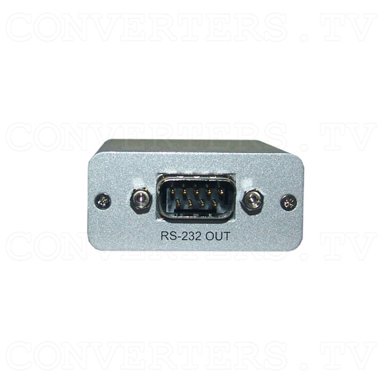 RS-232 Over CAT5 Cable Transmitter and Receiver Extender - Receiver - Back View