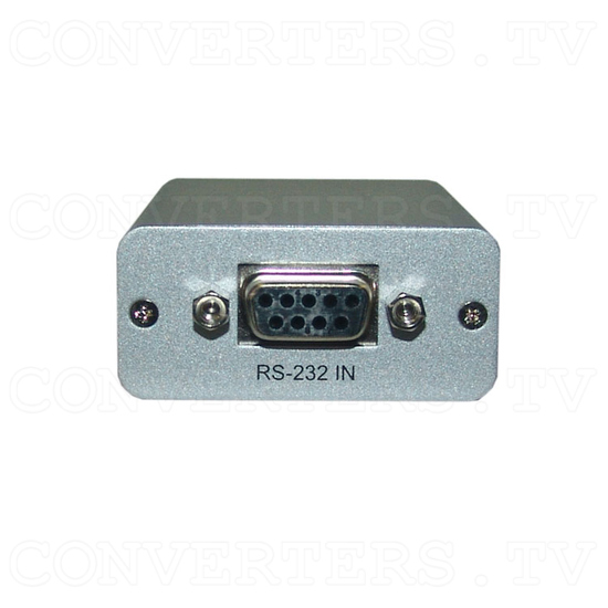 RS-232 Over CAT5 Cable Transmitter and Receiver Extender - Transmitter - Back View