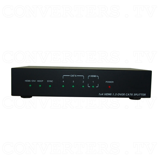 HDMI to CAT6 1 In 4 Out Splitter - Front View