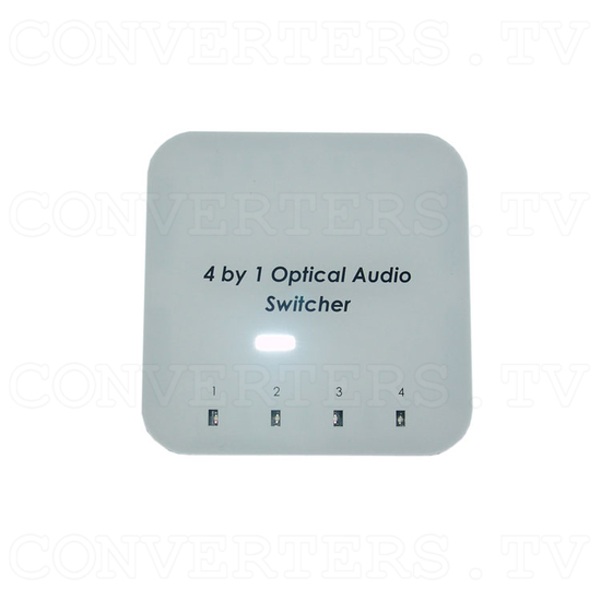 Optical Audio Switcher 4 In 1 Out with Remote Control - Top View