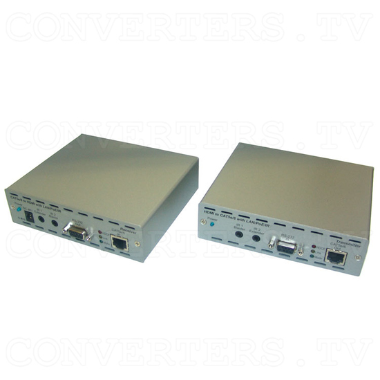 HDMI and IP Over Single CAT6 Extender - Full View