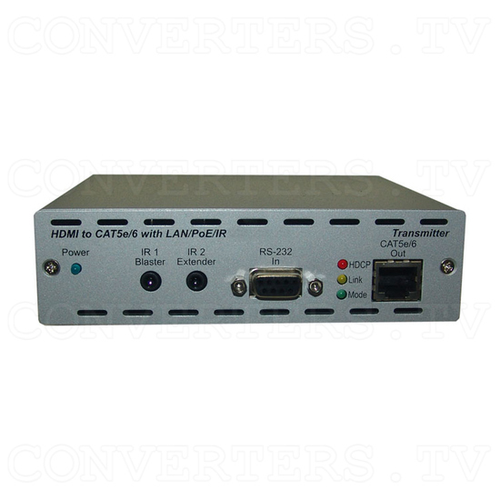 HDMI and IP Over Single CAT6 Extender - Transmitter - Front View