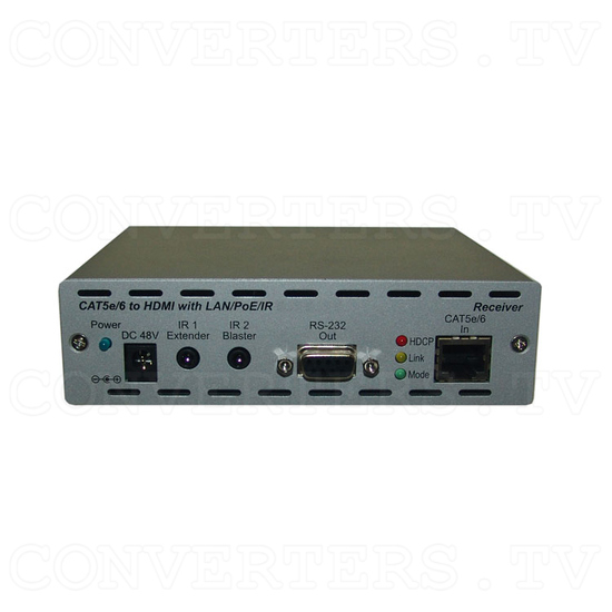 HDMI and IP Over Single CAT6 Extender - Receiver - Front View