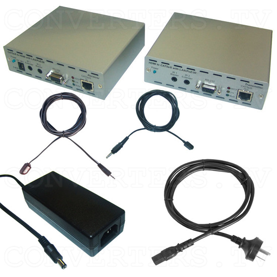 HDMI and IP Over Single CAT6 Extender - Full Kit