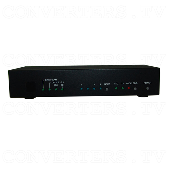 HDMI v1.4 4 In 2 Out Switch - Front View