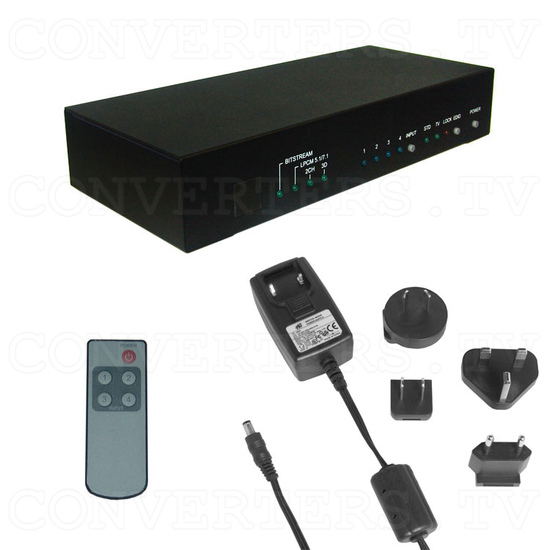 HDMI v1.4 4 In 2 Out Switch - Full Kit