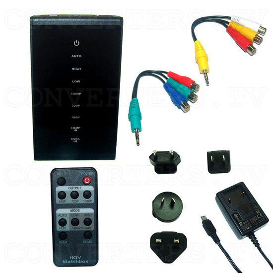 Video and Component to HDMI Scaler Box - CHQV-3H - Full Kit