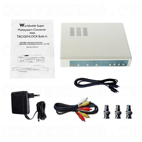 Worldwide super Multi-system Converter with TBC/GENLOCK (CDM-830T-BNC) - Full Kit