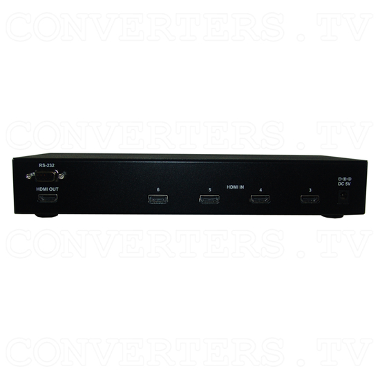 HDMI v1.3 6 In 1 Out Switcher with CEC - Back View