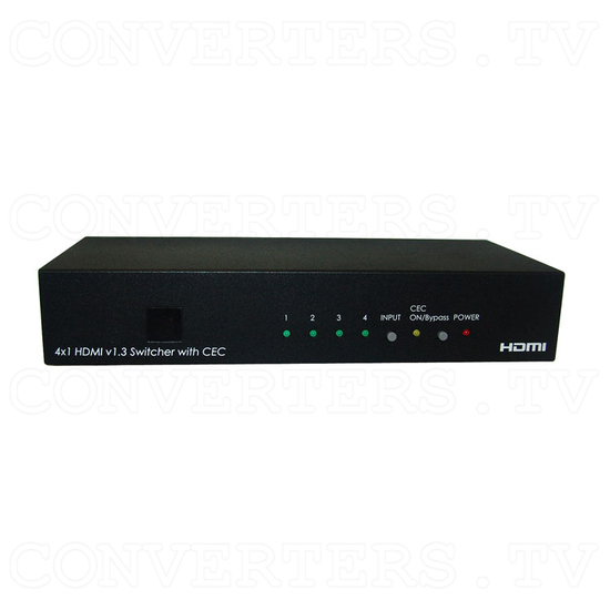 HDMI v1.3 4 In 1 Out Switcher with CEC - Front View