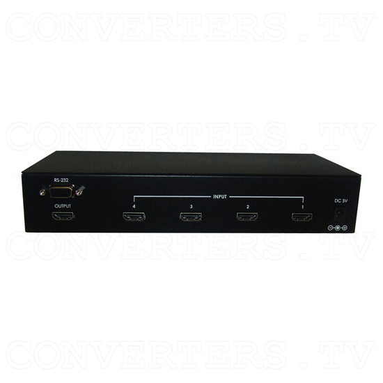 HDMI v1.3 4 In 1 Out Switcher with CEC - Back View