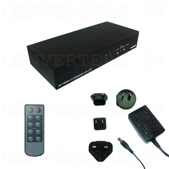 HDMI v1.3 4 In 1 Out Switcher with CEC - Full Kit