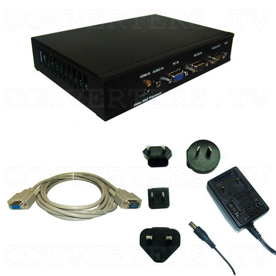 Video Wall Controller Processor for Video Walls - with RS232 and VGA/HDMI Upscale - Full Kit