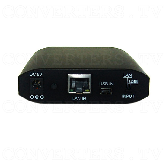USB Over Ethernet Four Port Extender USB Hub - CETH-4USB - Front View