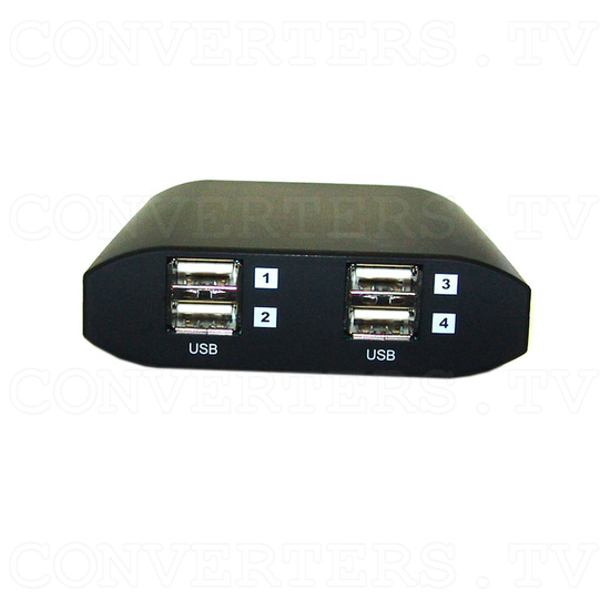 USB Over Ethernet Four Port Extender USB Hub - CETH-4USB - Back View