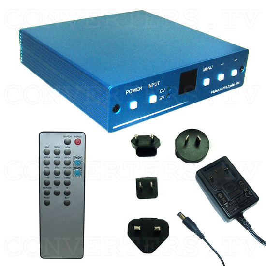 Video to DVI 1080p Scaler Box - Full Kit
