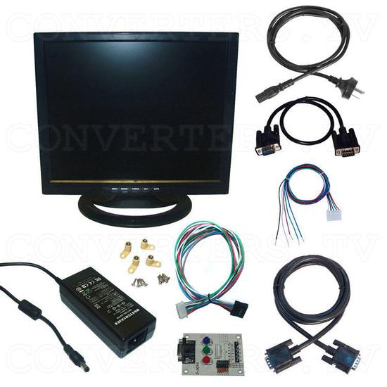 17 inch CGA EGA VGA LCD Desktop Monitor - Multi-Frequency - Full Kit