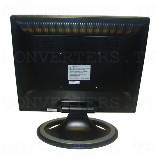15 inch CGA EGA VGA LCD Desktop Monitor - Multi-Frequency - Back View