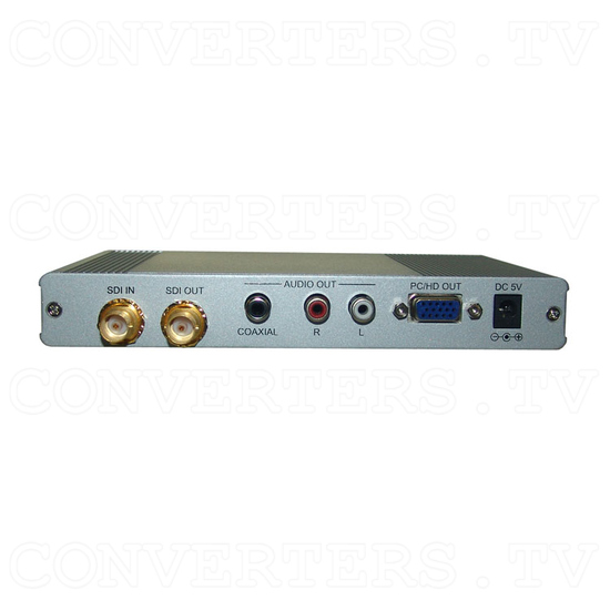 SDI to PC/HD Scaler with Audio - Back View