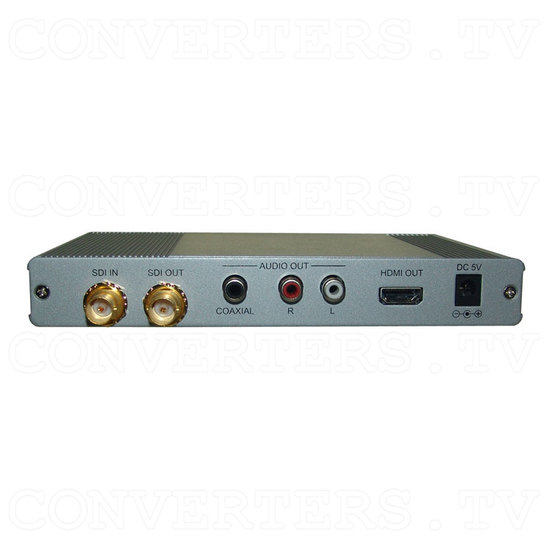 3G-SDI to HDMI Scaler with Audio - L/R and SPDIF - Back View