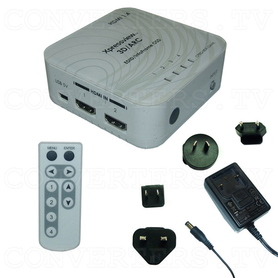 HDMI v1.4 4 In 1 Out Switch with Coaxial Audio Out - Full Kit