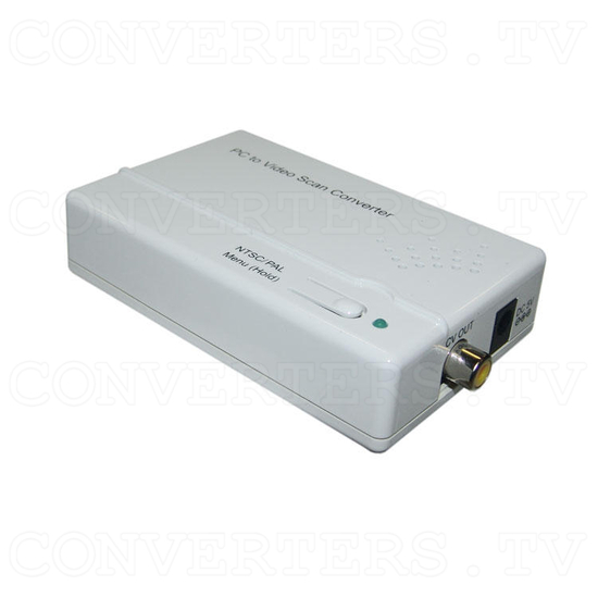 Component and PC to Composite Video Scan Converter - Full View