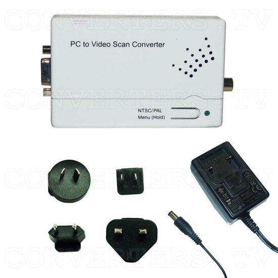 Component and PC to Composite Video Scan Converter - Full Kit