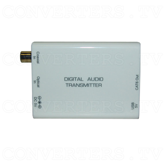 Digital S/PDIF and Toslink Audio over single Cat5e/6 Transmitter and Receiver - Transmitter - Top