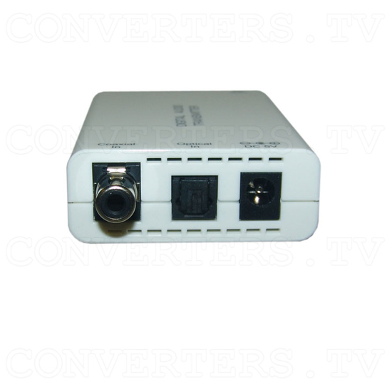 Digital S/PDIF and Toslink Audio over single Cat5e/6 Transmitter and Receiver - Transmitter - Left View