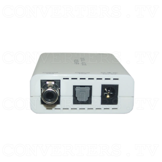 Digital S/PDIF and Toslink Audio over single Cat5e/6 Transmitter and Receiver - Receiver - Left View