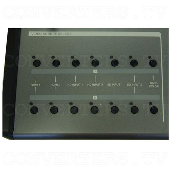 HD/SD Digital AV Mixer (CMX-12) - Top Detail - Video Source Select
