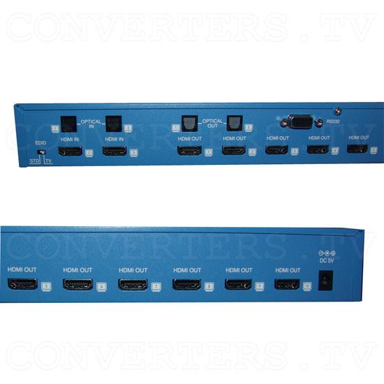 HDMI Splitter - 2 input : 10 output - Back View - Detail
