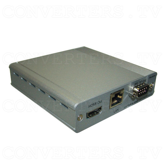 HDBaseT HDMI/IR/RS-232/PoE to CAT5e/6/7 Receiver - Full View