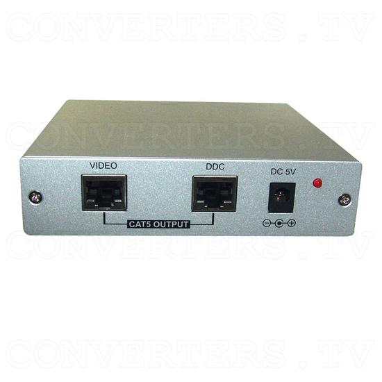 DVI over CAT5 Transmitter - Back View