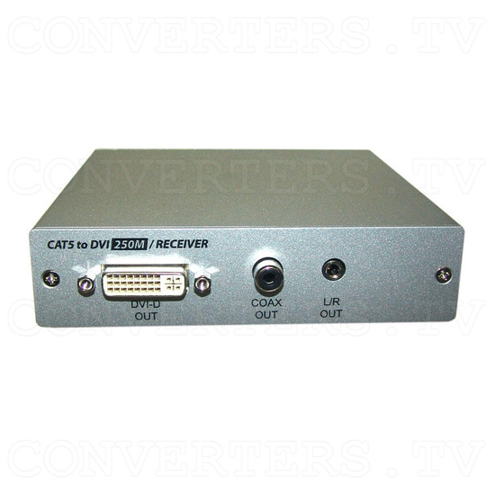 DVI Over CAT5 Receiver Box - 250 meters - Front View