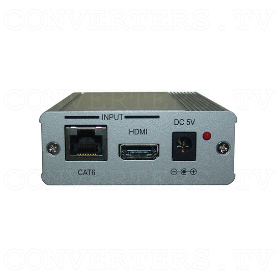 HDMI/CAT6 to Single CAT6 Extender - Front View