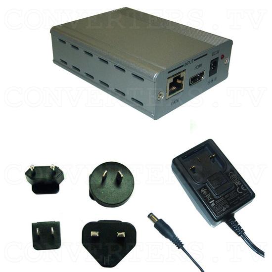 HDMI/CAT6 to Single CAT6 Extender - Full Kit
