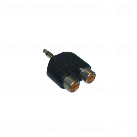 Mono Audio Mini Jack Adaptor - 2 RCA to 3.5mm - Full View