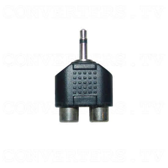 Mono Audio Mini Jack Adaptor - 2 RCA to 3.5mm - Top View