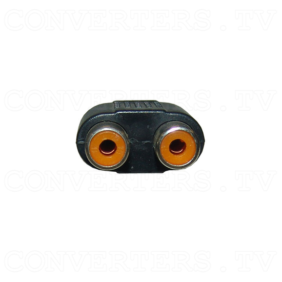 Mono Audio Mini Jack Adaptor - 2 RCA to 3.5mm - RCA Connectors