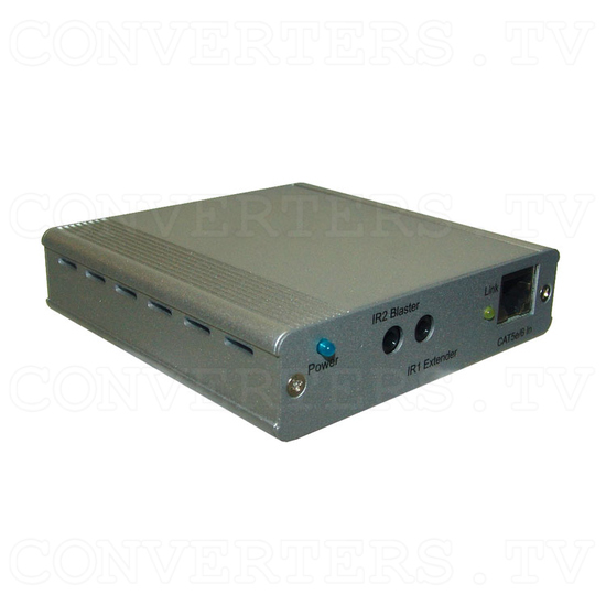 HDBaseT HDMI/IR/RS-232/PoE to CAT5e/6/7 Receiver - Angle View