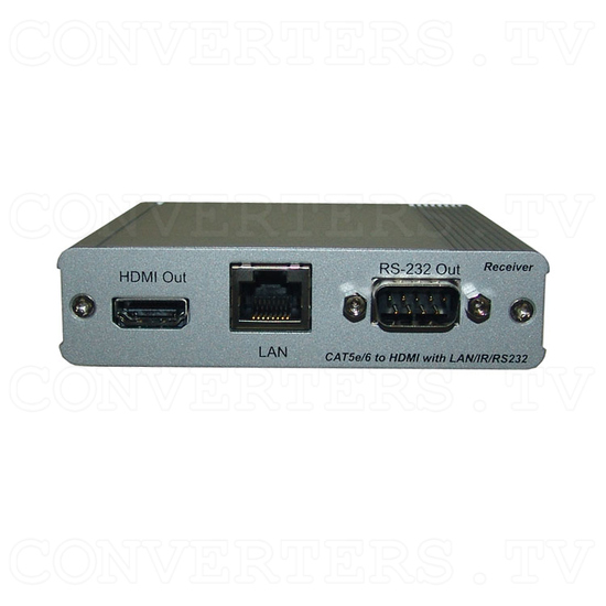 HDBaseT HDMI/IR/RS-232/PoE to CAT5e/6/7 Receiver - Front View