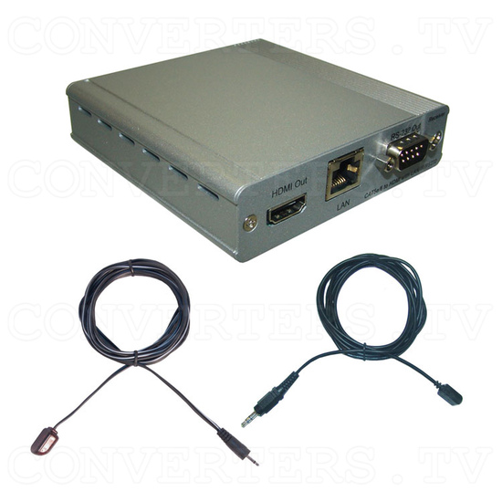 HDBaseT HDMI/IR/RS-232/PoE to CAT5e/6/7 Receiver - Full Kit