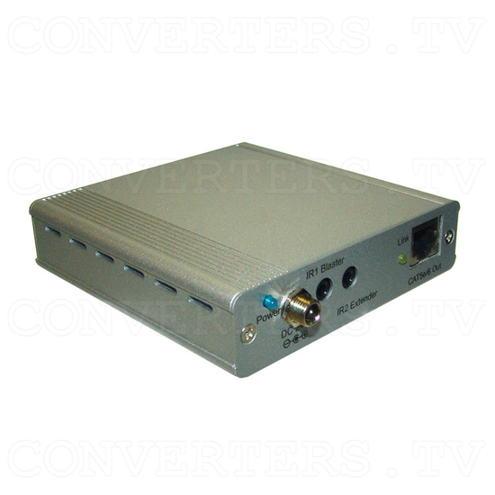 HDBaseT HDMI/IR/RS-232/PoE to CAT5e/6/7 Transmitter - Angle View