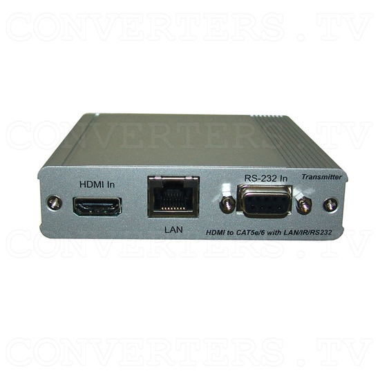 HDBaseT HDMI/IR/RS-232/PoE to CAT5e/6/7 Transmitter - Front View